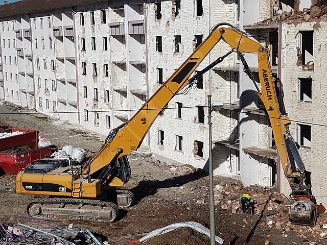 démolition de mur en béton